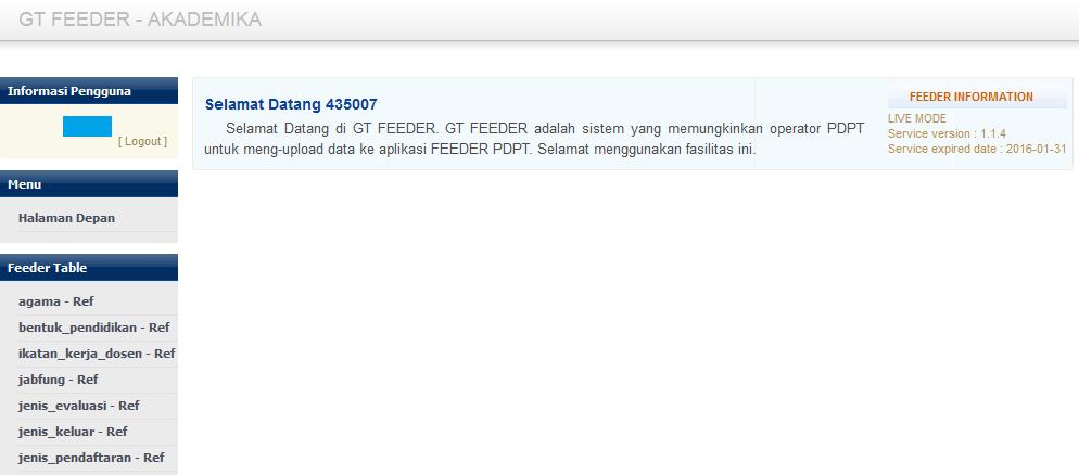 tampilan Langkah pertama gt feeder community version langkah mudah upload feeder PDDIKTI