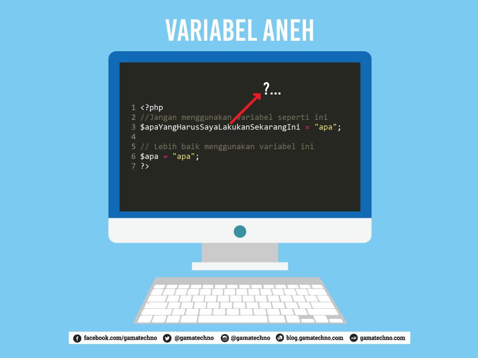 tips programmer pemula variabel aneh