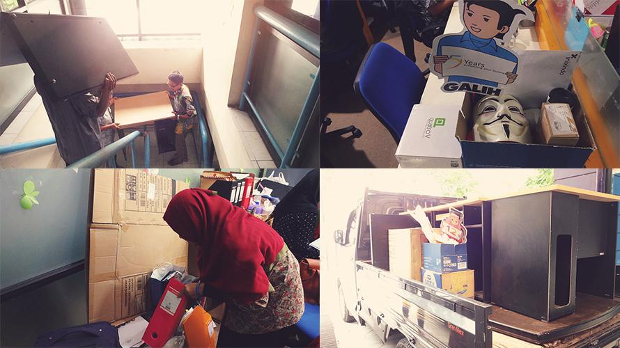 Proses pindahan penuh kenangan dari kantor Cik Di Tiro 34
