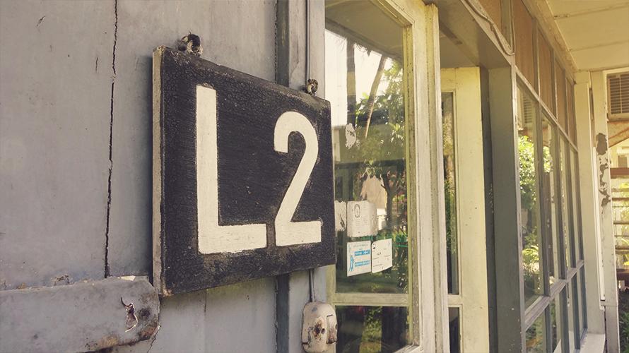 L2 terletak di kawasan Sekip UGM yang sejuk dan tenang