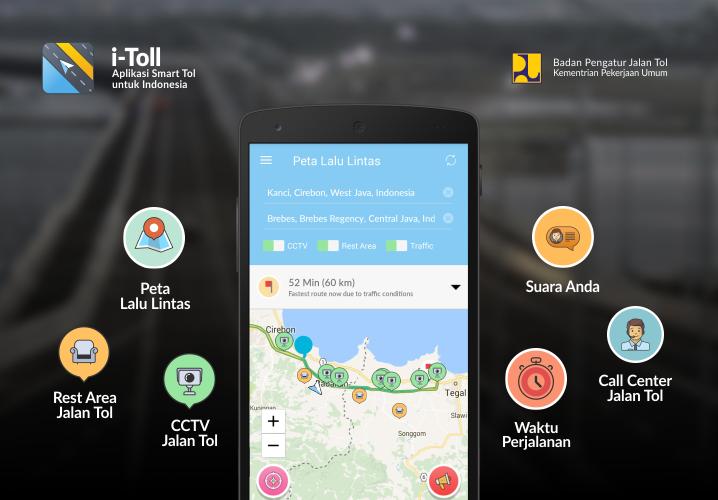 Pantau Kondisi Ruas Tol Selama Mudik Dengan Aplikasi I-Toll